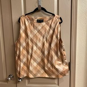 Plus Size ✨Ellen Tracy silk blouse NWOT